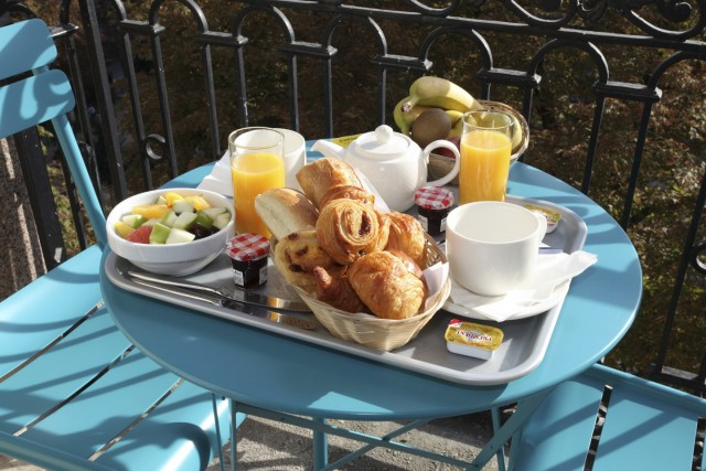 little palace hotel balcony breakfast closeup