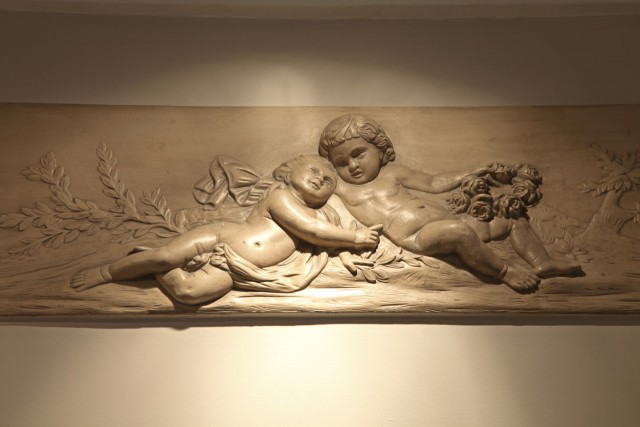 little palace hotel bas relief