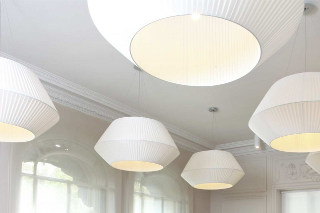 little palace hotel breakfast room pendant lights